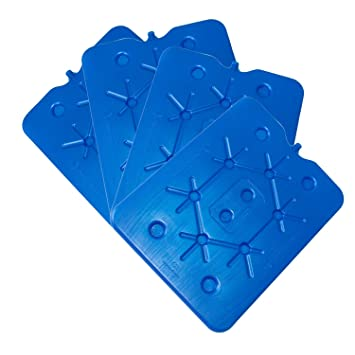 ToCi - Juego de 4 por 800 g plano nevera Acumuladores Ice Pack Hielo isotasche: Amazon.es: Jardín