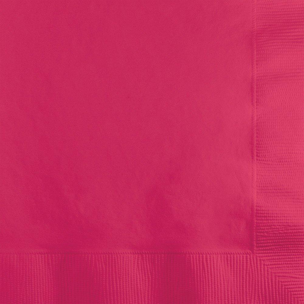Creative Converting 600 Count色のタッチBeverageペーパーナプキン、ホットマゼンタ B00I4W24JG