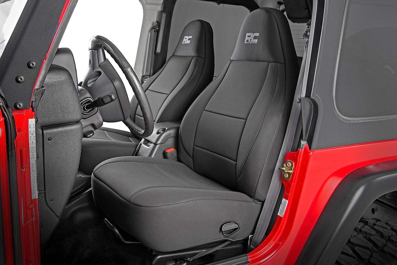 Funda del asiento klimatisierend negro para Jeep Wrangler 2 TJ Soft-Top cabriolet 2-tür