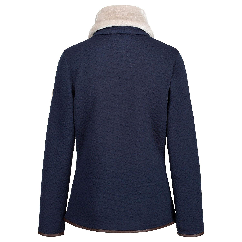 Pile Donna Regatta Talya Full-Zip Luxury Fur Collar Leatherette Trim Quilted Fleece