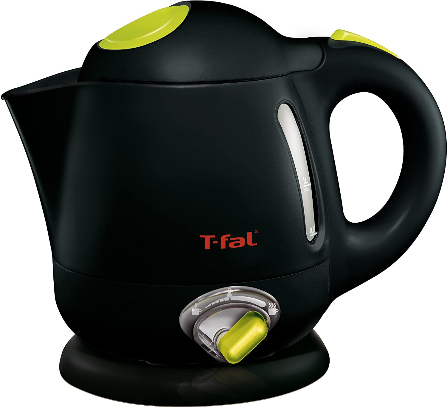T-fal 7211002159 BF6138 Balanced Living 4-Cup 1750-Watt Electric Kettle with Variable Temperature and Auto Shut Off, 1-Liter, Black