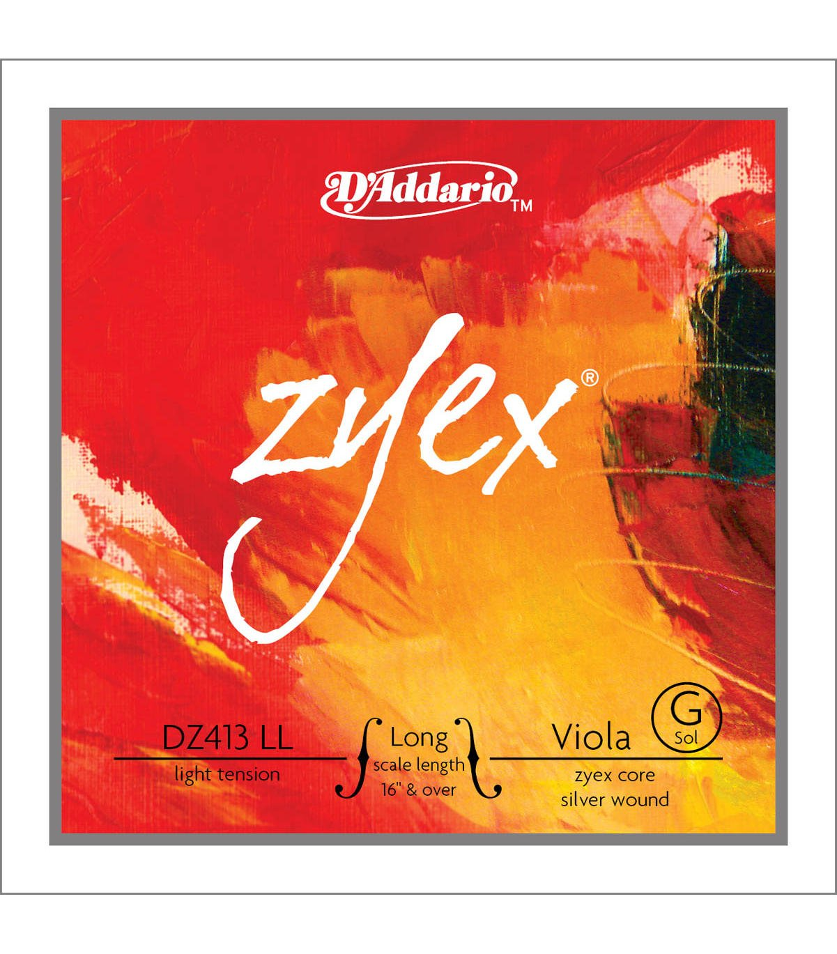 Daddario Orchestral C Dz414 Lh Long Hvy Cuerda viola