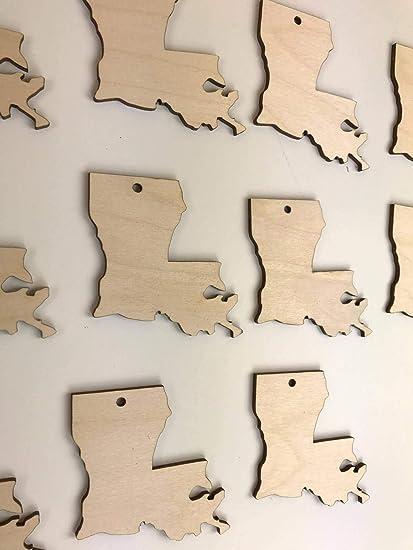 Amazoncom Marthafox Louisiana Cutouts Wooden Cutouts Wooden Blanks