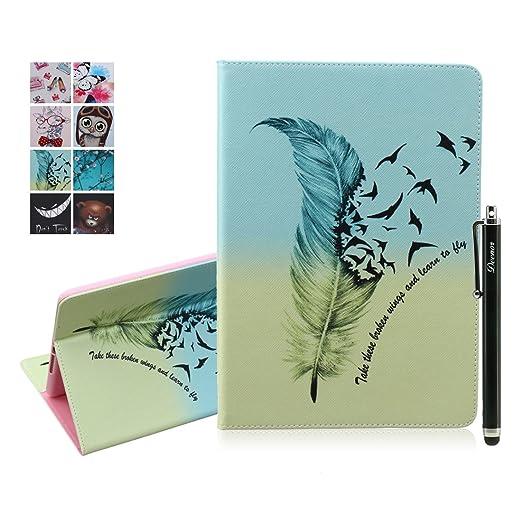 31 opinioni per Custodia per iPad Air 2, Deenor Colorato La pittura e Elegante Portafoglio Case