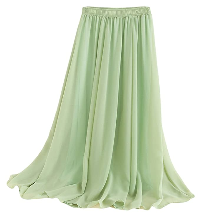 Women's Pleated Retro Maxi Long Skirt at Amazon Women's Clothing ...