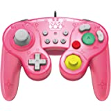 HORI Battle Pad GameCube Style Controller - Peach Edition for NintendoSwitch