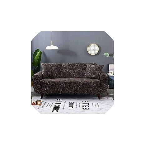 Black-Sky Sofá en Forma de L Cubierta elástica Azul del sofá ...