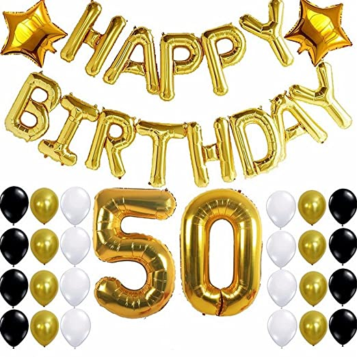 Feliz cumpleaños partuy Lámina de decoración de globos 50 ...