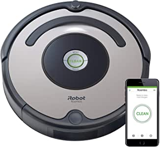 iRobot Roomba 676 WiFi Connected Robot Vacuum - Good for Carpets and Hard Floors - Dirt Detect Technology - 3 Stage Cleaning System -Schedule Cleaning through App, 1 Year Brand Warranty