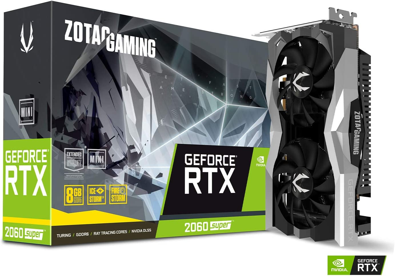 ZOTAC GAMING GeForce RTX 2060 SUPER MINI 8GB GDDR6 256-bit 14Gbps Gaming Graphics Card, IceStorm 2.0, Super Compact, ZT-T20610E-10P