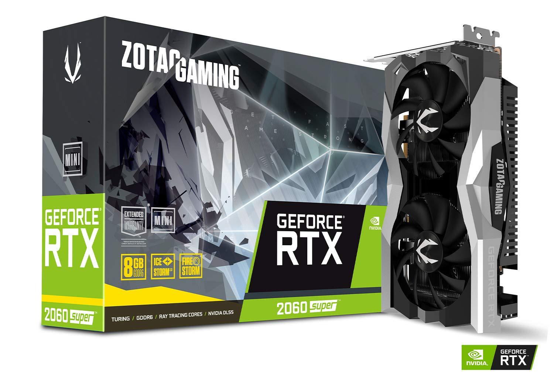 ZOTAC GAMING GeForce RTX 2060 SUPER MINI 8GB GDDR6 256-bit 14Gbps Gaming Graphics Card, IceStorm 2.0, Super Compact, ZT-T20610E-10P by ZOTAC
