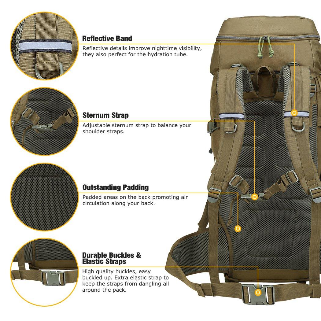 mardingtop 50 Liter marco interno mochila táctica mochila Militar ...