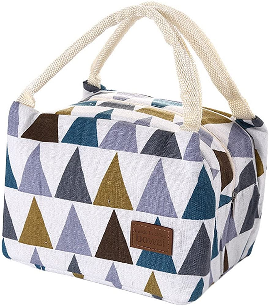 For Women Kids Men Insulated Canvas Box Tote Bag Thermal Cooler Food Lunch Bags