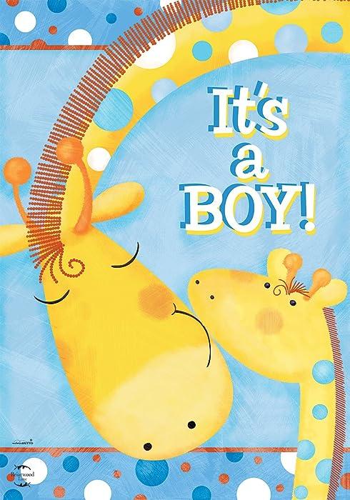 "Briarwood Lane It's A Boy Garden Flag Baby Shower Giraffes Welcome 12.5""x18"""