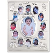 Lawrence Frames 830080 Silver Plated My First Year Picture Frame
