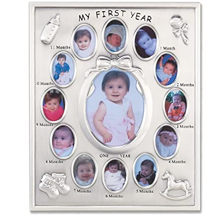 Amazon.com - Lawrence Frames 830080 Silver Plated My First Year ...