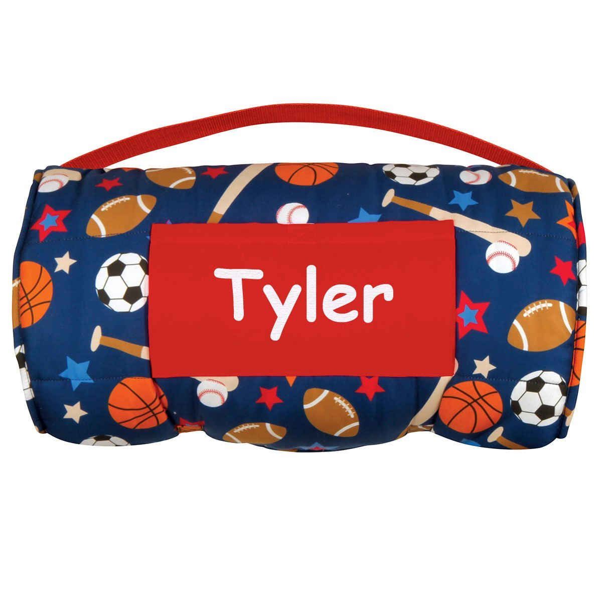 Stephen Joseph Personalized All-Over Sports Print Childs Nap Mat