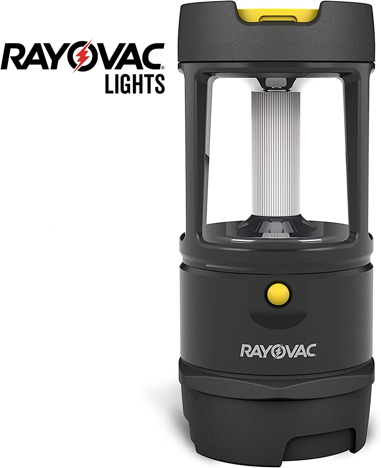 Rayovac Virtually Indestructible LED Camping Lantern Flashlight, 600 Lumens Battery Powered LED Lanterns for Hurricane Supplies, Survival Kit, Camping Accessories, IP67 Waterproof