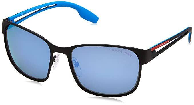 4cae5986a3ea PRADA SPORT Men s 52TS 0PS52TS DG02E0 59 Sunglasses Black  Rubber Darkgreymirrorwaterpolar