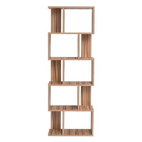 Mobili Rebecca® Libreria Scaffale 5 Mensole Legno Marrone ...