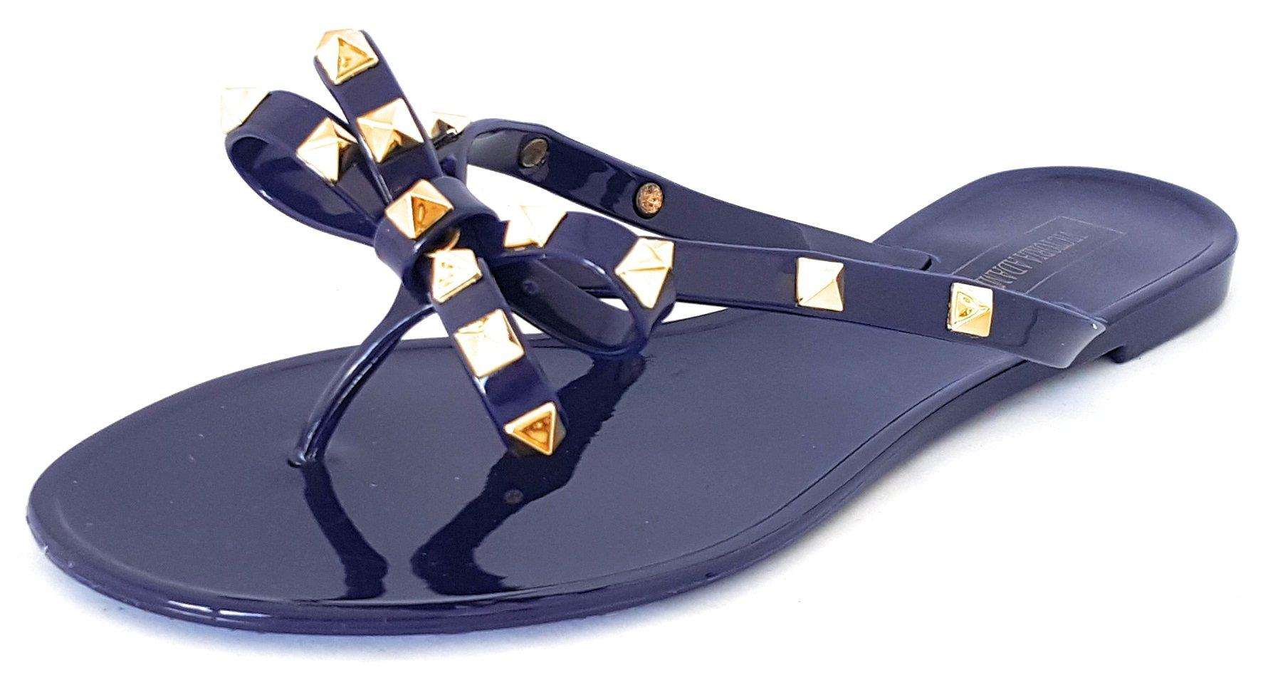 82909fc0dbd4 Galleon - VICTORIA ADAMES Valencia Royal Blue Jelly Women Shoes (7)