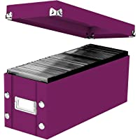 """Snap-N-Store Standard CD Storage Box, 13.25"""" x 5.125"""" x 5.125"""", Holds up to 165 CDs, Berry (SNS03313)"""