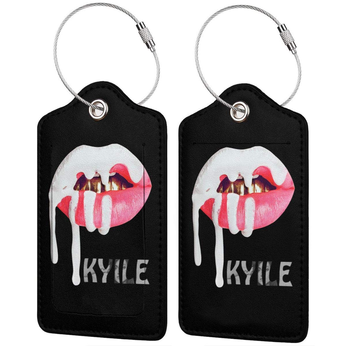 Kylie Jenner Leather Luggage Tag Travel ID Label For Baggage Suitcase