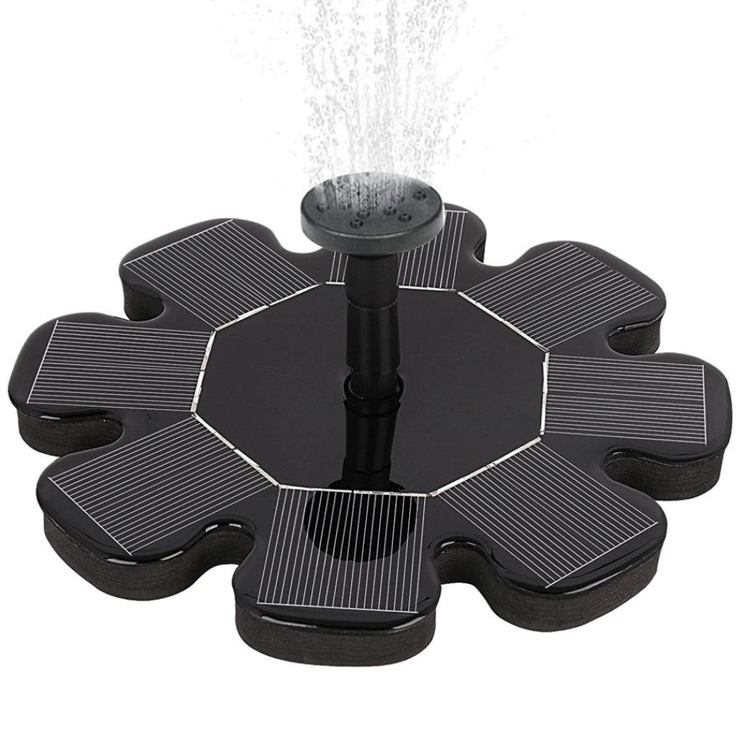 LiPing Solar Water Fountain for Bird bath, Solar Fountain Water Pumps Freestanding Submersible for Small Pond,Fish Tank, Patio, Garden Decoration Solar Panel Water Pump Kit, Solar Pond Pump (C)