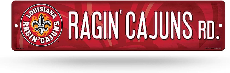 NCAA Louisiana Lafayette Ragin' Cajuns 16-Inch Plastic Street Sign Décor