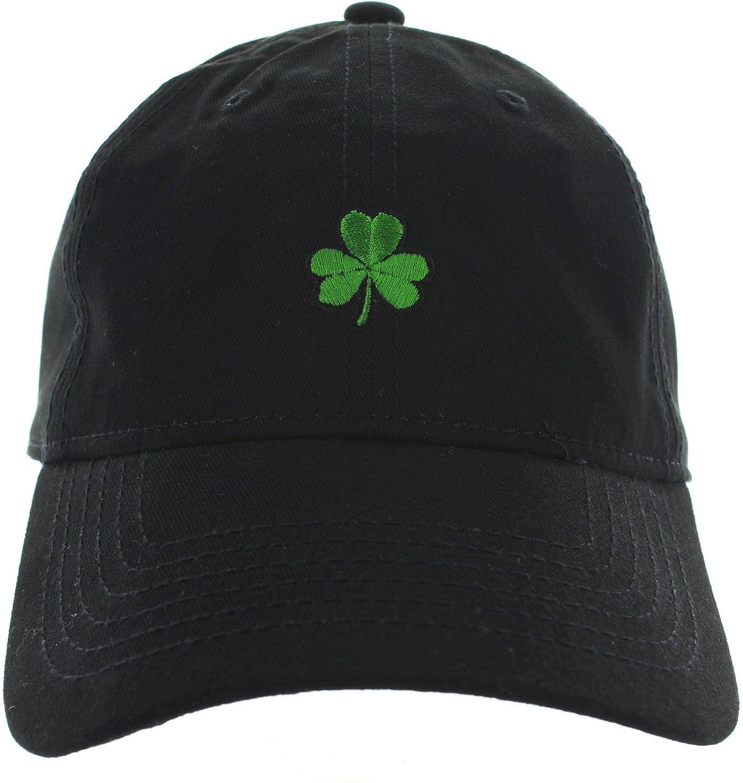 Shamrock Dad Hat Emboidered Black at Amazon Men s Clothing store  8d68edb2b93