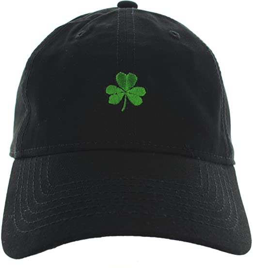 Shamrock Dad Hat Emboidered Black at Amazon Men s Clothing store  1905d58c02a
