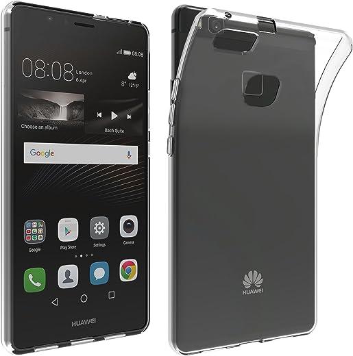 LONVIPI, Cover Huawei P9 LITE Custodia Trasparente ANTIURTO Sottile Anti Scivolo Guscio In Silicone Flessibile Gel Gomma TPU MORBIDA Slim Protettiva HD Bumper