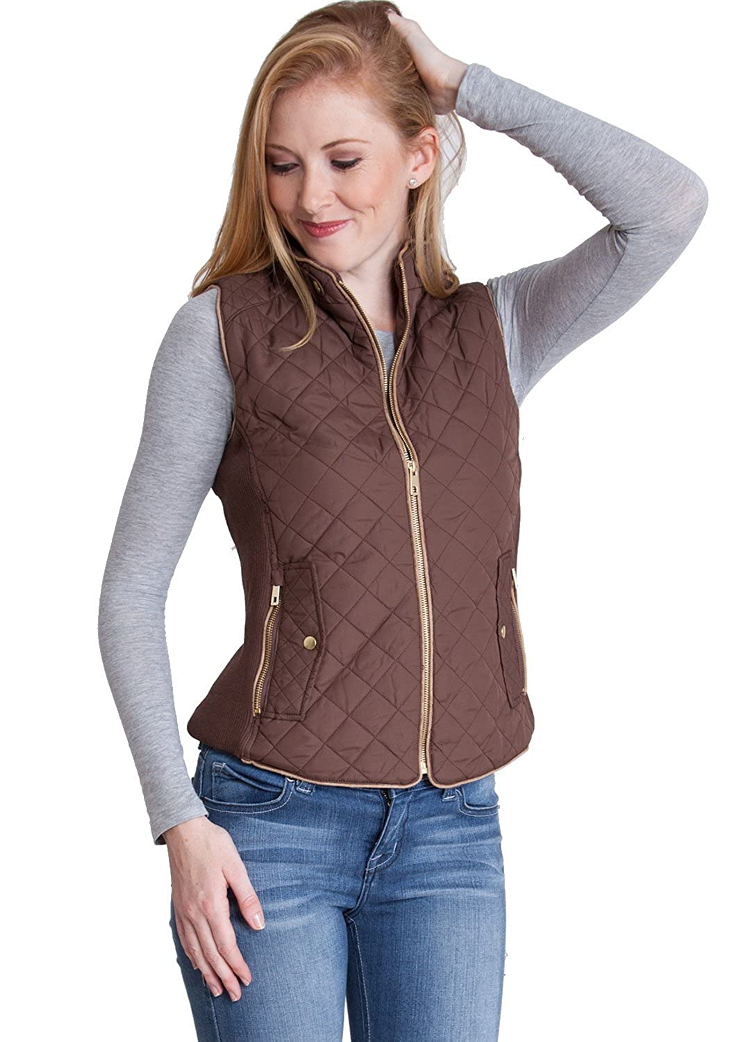 Clothes Effect Ladies Quilted Padded Zipper Vest & Jackets, Multiple Colors Available