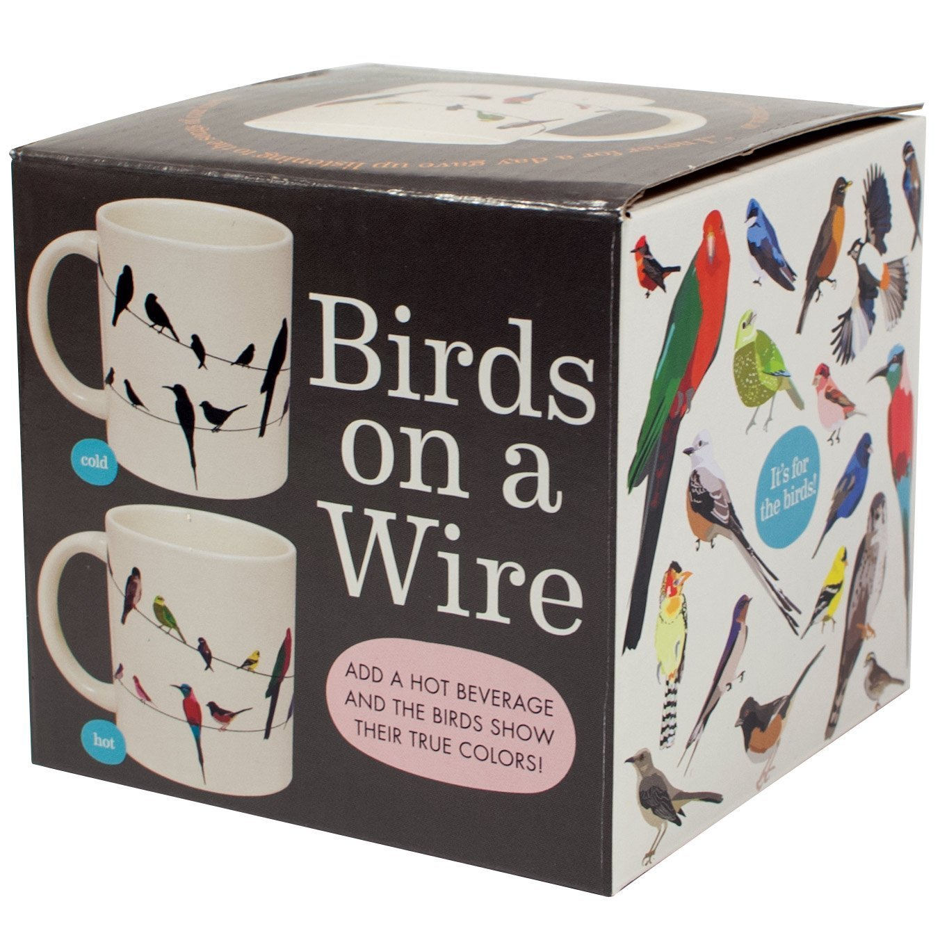 Amazon.com: Birds on a Wire Heat Changing Mug - Add Coffee or Tea ...