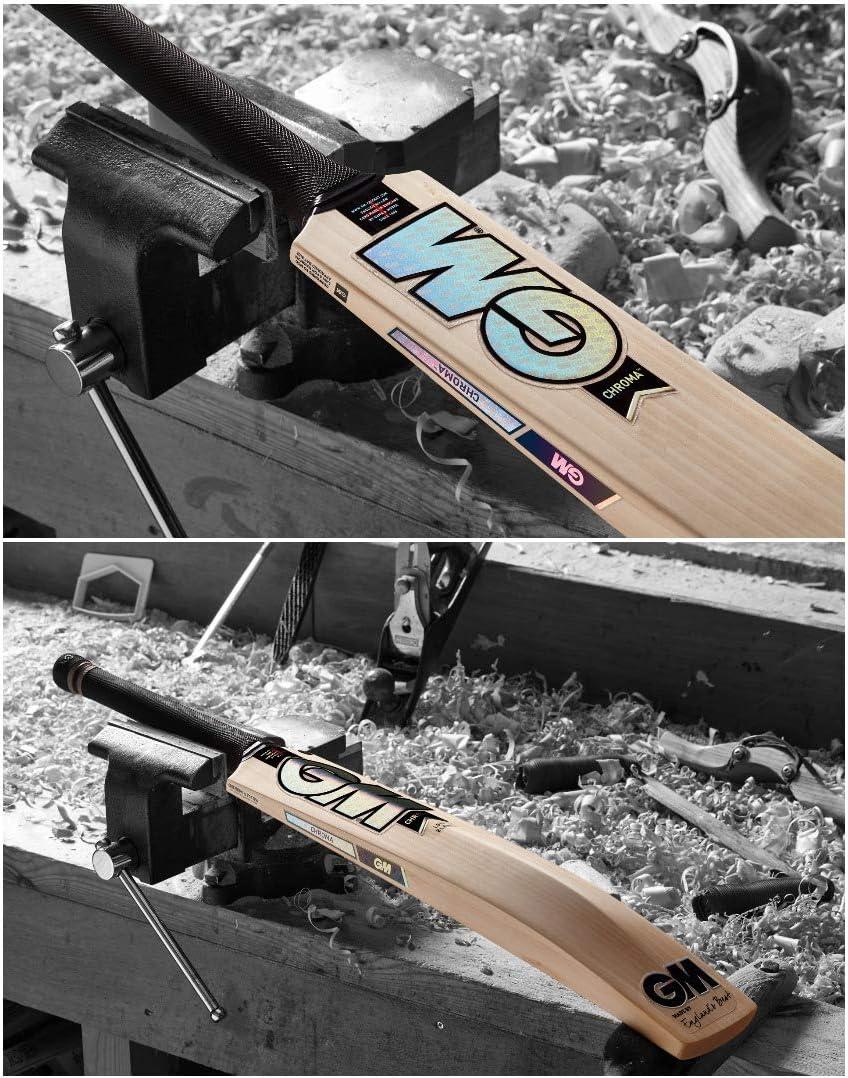 Gunn /& Moore GM Chroma 606 English Willow Cricket Bat Mens Size Short Handle Includes Extra GM bat Grip - 2021 Edition