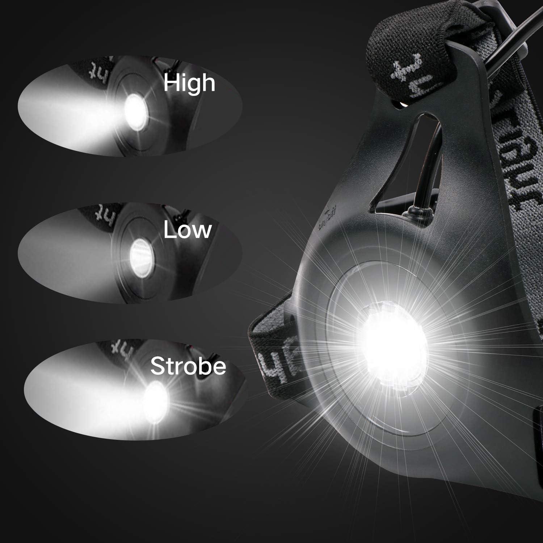 DigHealth Luz para Correr Recargable USB 90/° Haz Ajustable para C/ámping Excursionismo Corriendo Ciclismo Trotar /… 3 Modos LED Luz de Pecho Impermeabl con Luz de Advertencia de Seguridad Trasera