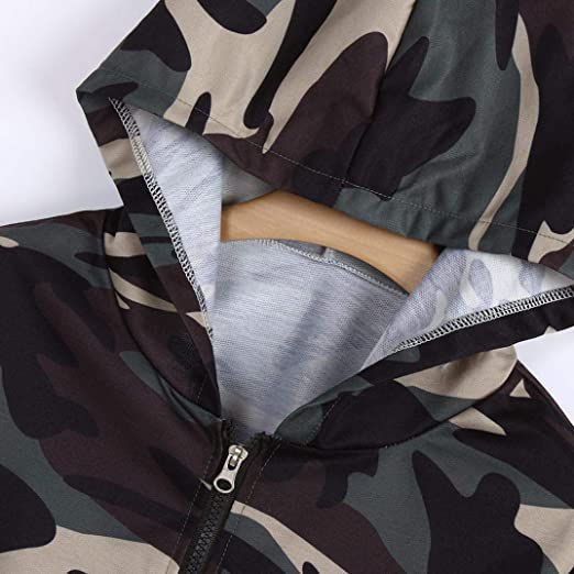 MEIbax 2018 Moda V-Cuello Mujeres Moda Camuflaje Impresišn Camisa Larga Cool Manga Blusa Capucha SušŠter Corto Personalizado Tops Promocional Blusa: ...