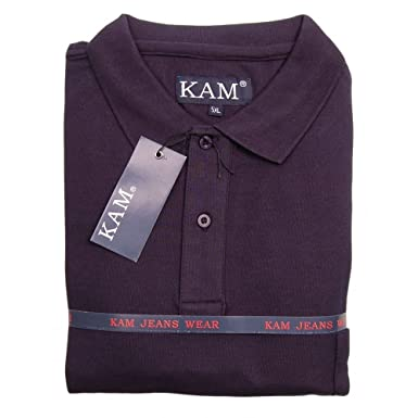 Kam Plain Polo Shirt with Chest Pocket 7XL Navy: Amazon.es: Ropa y ...