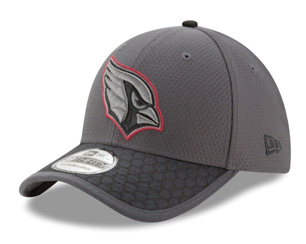 Arizona Cardinals New Era NFL 39THIRTY 2017 Sideline Graphite Flex Fit Hat   Amazon.co.uk  Sports   Outdoors 1ca9b8f88