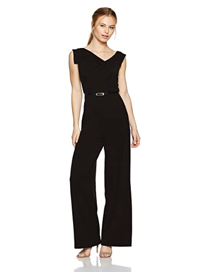379bf02383d Black Halo Women s Petite Jackie Jumpsuit  Amazon.in  Clothing ...