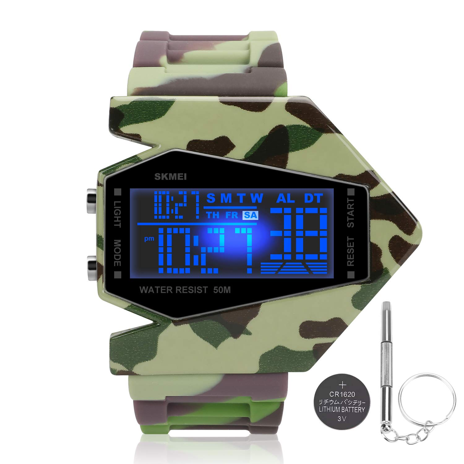 Boys Watches for Kids Ages 5-7 8-13 Years Led Toys Digital Military Waterproof Alarm Noctilucent Teen Army Camoflauge Stopwatch Reloj