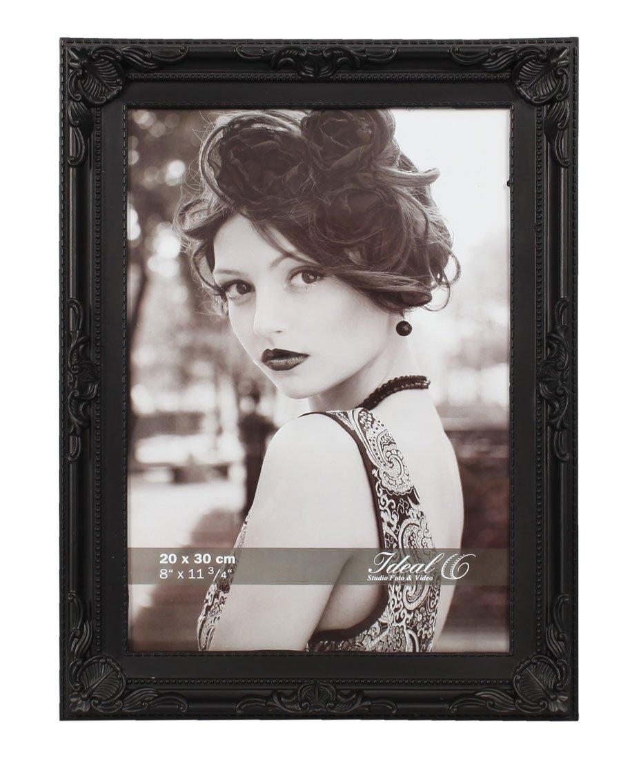 Barock Bilderrahmen Kunststoff in 13x18 20x30 Weiß Schwarz Bild Foto ...