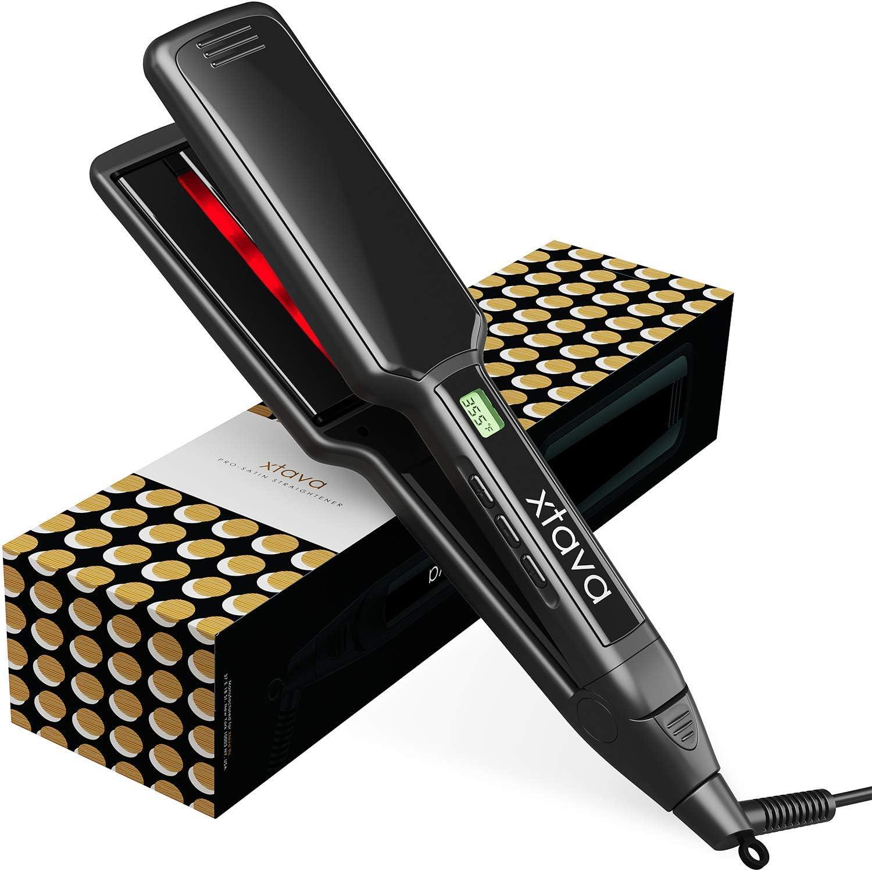 xtava Affichage professionnel des cheveux lisseur 2 pouces à écran plat fer avec LCD numérique