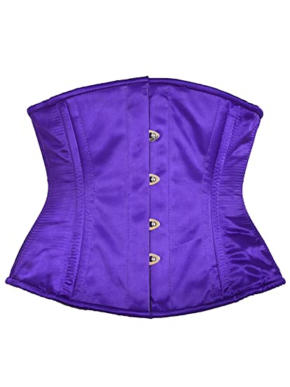 9851c114d1e Killer Corsets Women s Corset Satin Purple Slimming Steel Boned ...