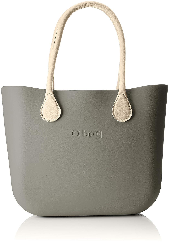 O bag B001, Borsa a Mano Donna, Grigio (Vulcano), 14x31x39 cm (W x H x L)