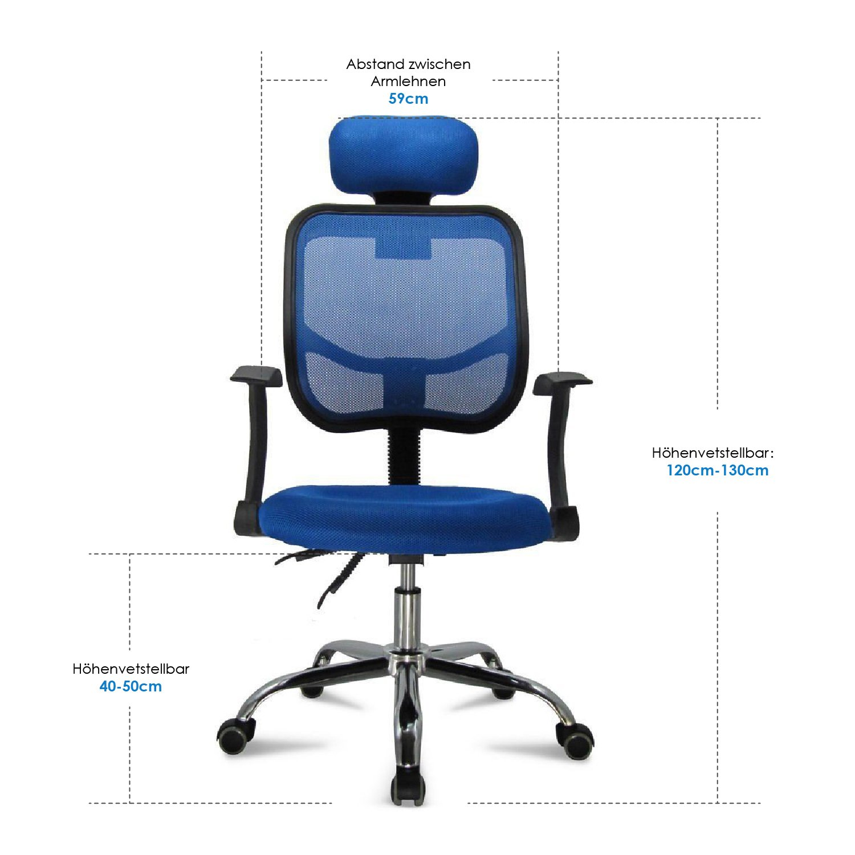 Homfa Bürostuhl Chefsessel Bandscheiben Stuhl Kinderdrehstuhl