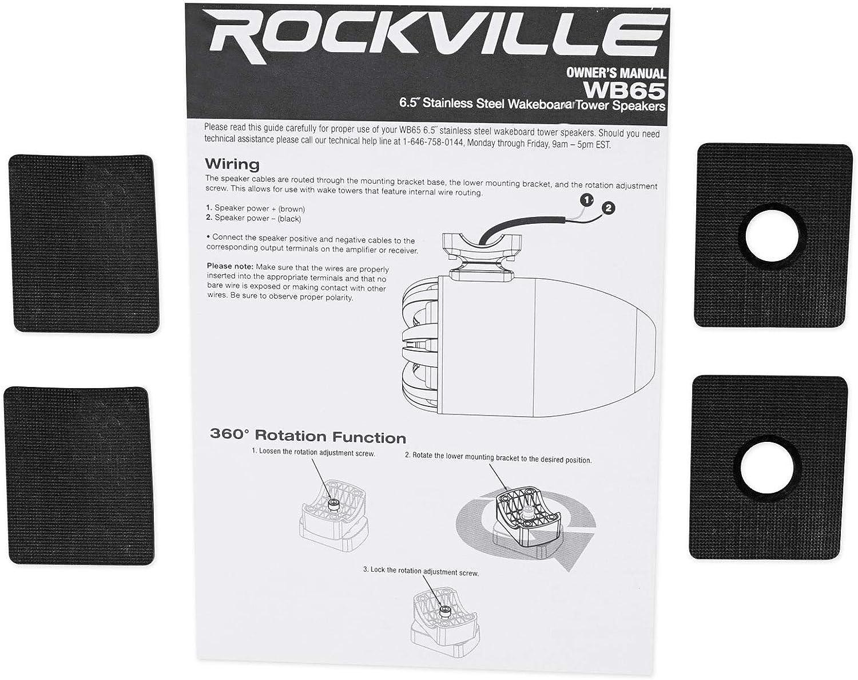 Rockville 6.5 Tower Speakers+Hifonics Amp+Bluetooth Ctrl 4 RZR//ATV//UTV//Cart 2