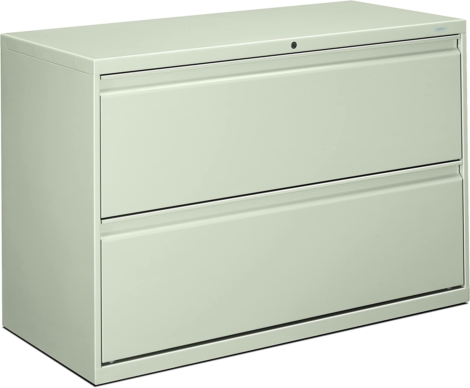 HON 892LQ 800 Series 42 by 19-1/4-Inch 2-Drawer Lateral File, Light Gray