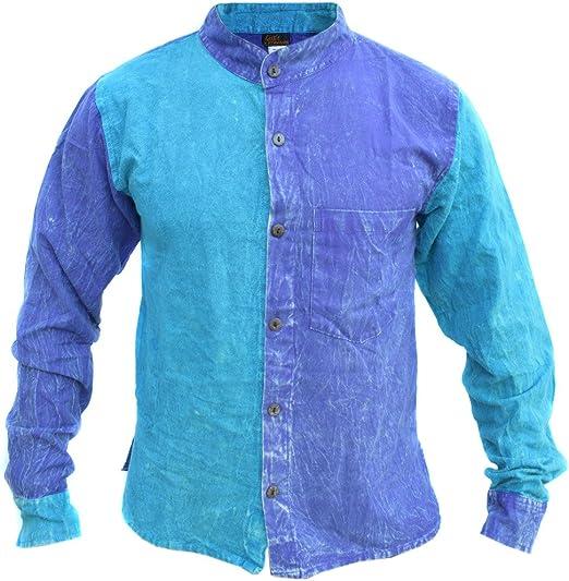 Cotton Light Grandad Pin Striped Grandad Button Down Long Sleeve Summer Shirts