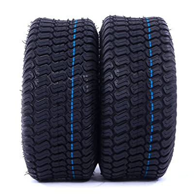 "(Lot of 2) Airloc brand 6"" 13x6.50-6 13x6.50x6 Tubeless Turf Tires 4 ply rated"